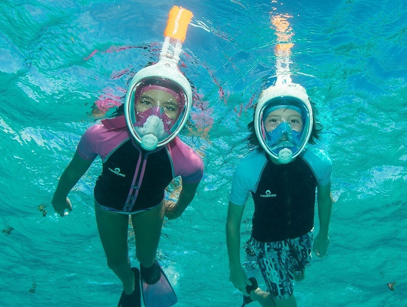 Migliori maschere integrali (full face) per snorkeling 180 gradi antiappannamento sotto 50 euro